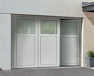 Porte De Garage 3 Vantaux : les portes de garage sectionnelles ouverture plafond ou lat rale ~ Dode.kayakingforconservation.com Idées de Décoration