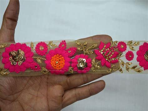 decorative trim indian laces sari border embroidered saree
