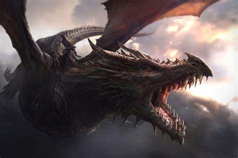 dragon game  thrones balerion wallpaper ilustracao