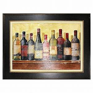 wine table framed wall art bed bath beyond With wine wall art