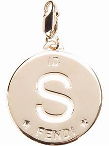 Fendi letter charm for Fendi necklace letter
