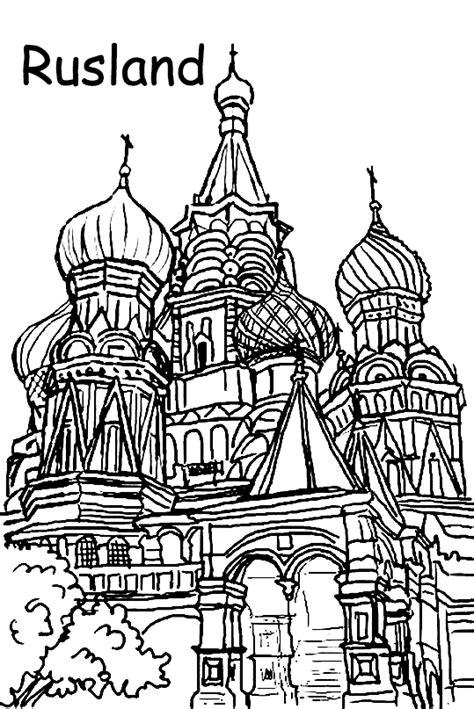 Kleurplaat Kerk by Rusland Kleurplaten Orthodoxse Kerktorens Ken