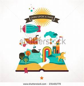 fairy tale book cover template - open book cartoon stock images royalty free images