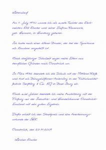 handgeschriebener lebenslauf muster24net With handgeschriebener lebenslauf tabellarisch