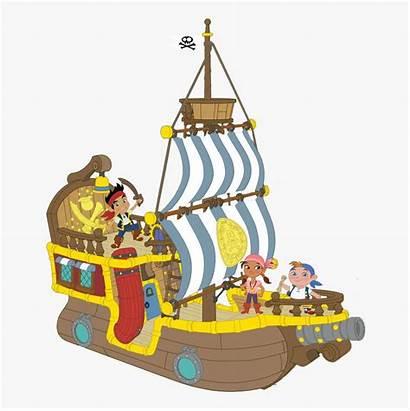 Jake Ship Clip Pirate Neverland Gang Boat