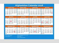 Printable Afghanistan calendar 2018 free 2018 Calendar printable for Free Download India USA UK