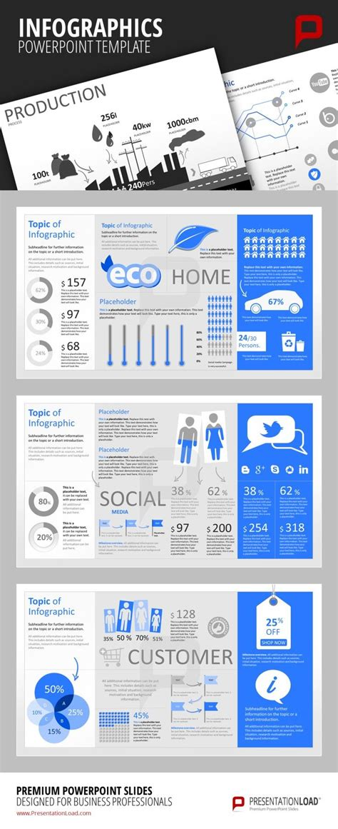 infographic powerpoint templates create marketing related