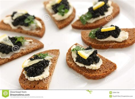 rye bread canapes caviar canapes stock image image of starter canape
