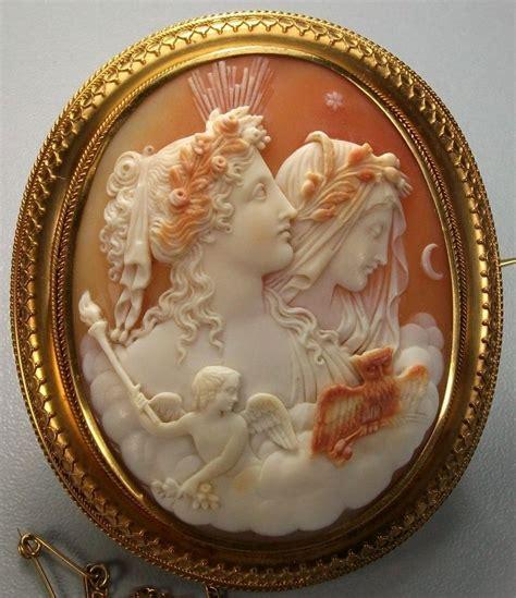 allegory  day  night antique cameo cornelian