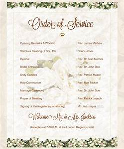 Wedding order template 38 free word pdf psd vector for Wedding blessing order of service template