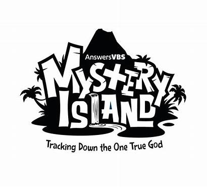 Mystery Island Vbs Resources Clipart Grayscale Simple