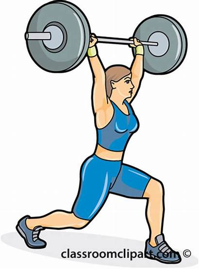 Lifting Weight Weights Clipart Weightlifting Cartoon Female