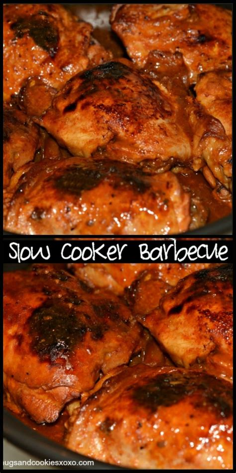 2 Ingredient Slow Cooker Barbecue Chicken  Hugs And