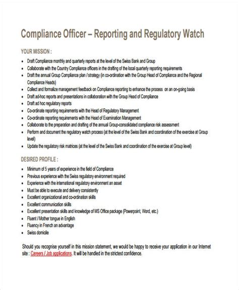 compliance policy template 12 compliance report templates free premium templates