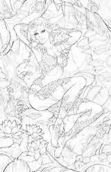 Ivy Poison Coloring Sorah Suhng Deviantart Drawings Colouring Pencil sketch template