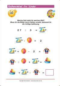 Rechen Rätsel by Zahlenr 228 Tsel F 252 R Kinder Mathe Kann Einfach Sein Kinder
