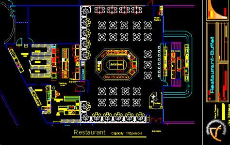 restaurant buffet  autocad cad   kb