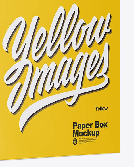 All free mockups consist smart object for easy edit. Matte Box Mockup - Half Side View in Box Mockups on Yellow ...