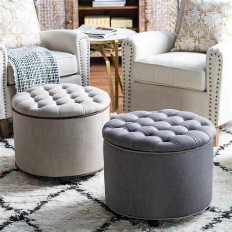 Tufted Ottomans belham living adeline tufted ottoman ottomans at hayneedle