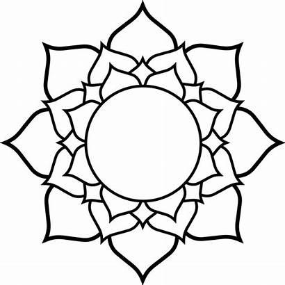 Lotus Svg Wikimedia Commons Flower Mandala Simple