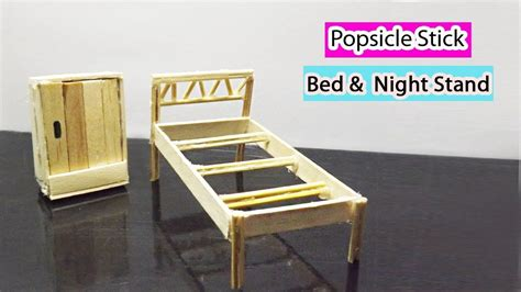 popsicle stick crafts    miniature doll bed