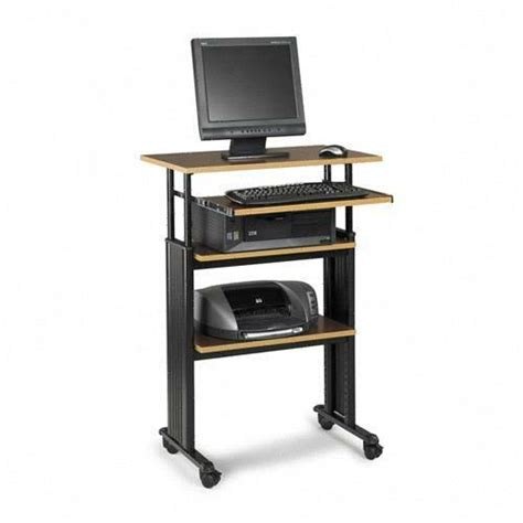 stand up computer stand for desk printer
