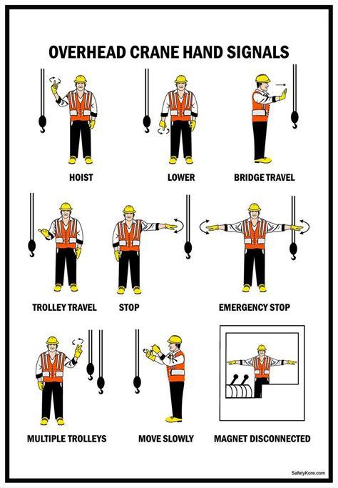 crane hoist warning sign overhead crane hand signals safetykorecom