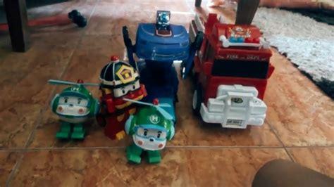 bermain mainan anak mobil jadi robot bus kecil tayo rtv robocar poli rtv pemadam kebakaran