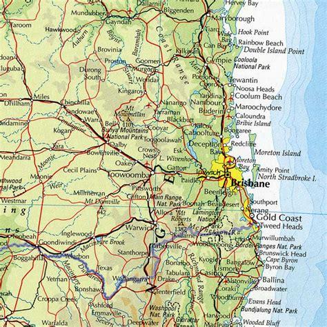 map brisbane  surrounding area