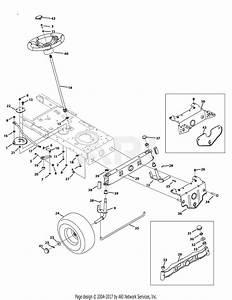 Troy Bilt 13an77kg011 Pony  2009  Parts Diagram For Steering