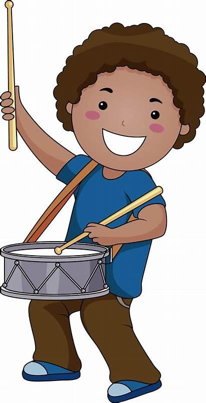 Drum Clipart Boy Cartoon Child Clip Instrument