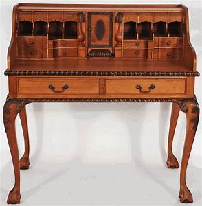 Asian, Furniture, Ornate, Indonesian, Fancy, Writing, Desk, From, Indonesia