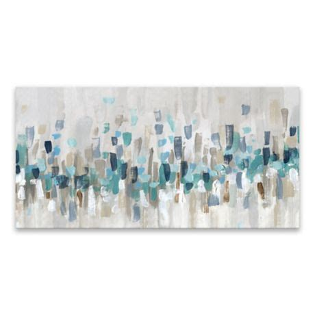 blue staccato      canvas wall art bed bath