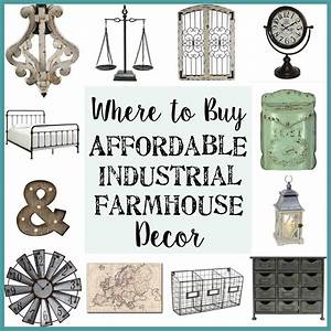 Where to Buy Affordable Industrial Farmhouse Decor - Bless