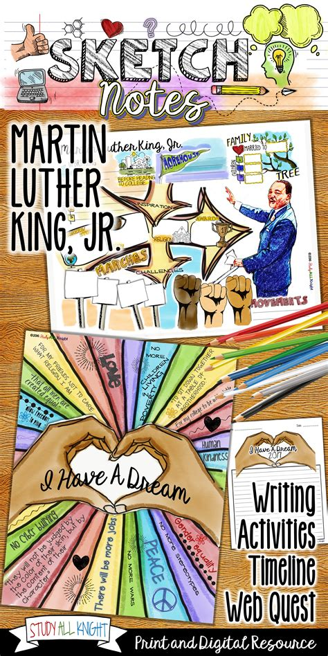 Martin Luther King Jr Writing Activity Timeline Sketch