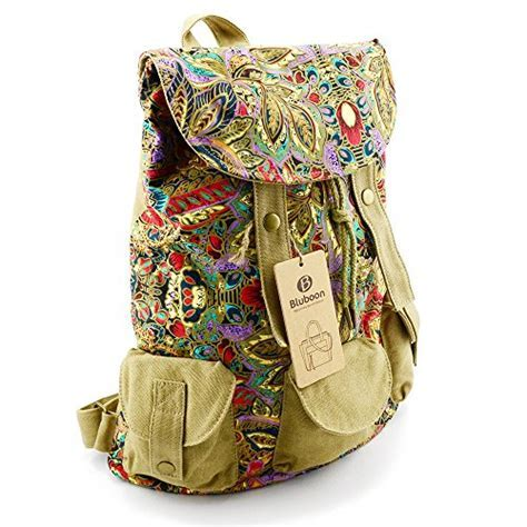BLUBOON Canvas Backpacks Bookbags School Backpacks Cute