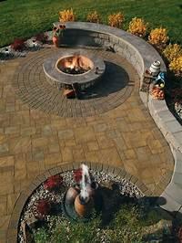nice stamped concrete design ideas patio Stamped Concrete Fire Pit | Fire Pit Design Ideas
