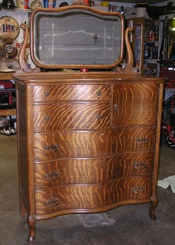 quarter saw tiger oak dresser vintage furniture