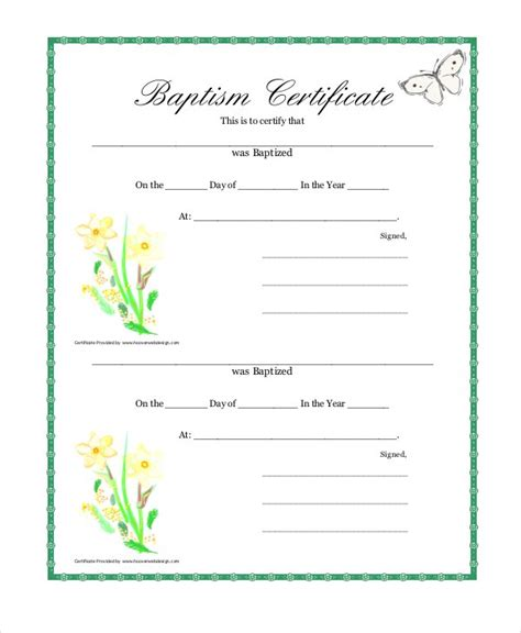 Baptism Certificate Template Free by 21 Sle Baptism Certificate Templates Free Sle