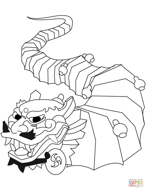Chinese New Year Dragon Coloring Page Free Printable