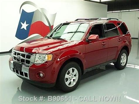 2011 Ford Escape Ltd by Sell Used 2011 Ford Escape Ltd Sunroof Htd Leather Rear