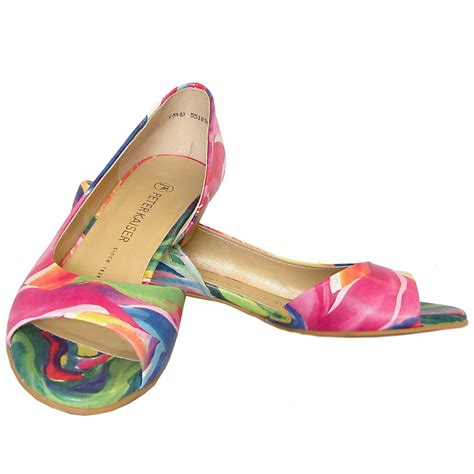 multi color shoes kaiser itha low heel open shoes in multi colour