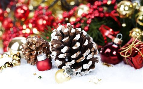 christmas decoration with pine cone by copyright natalia