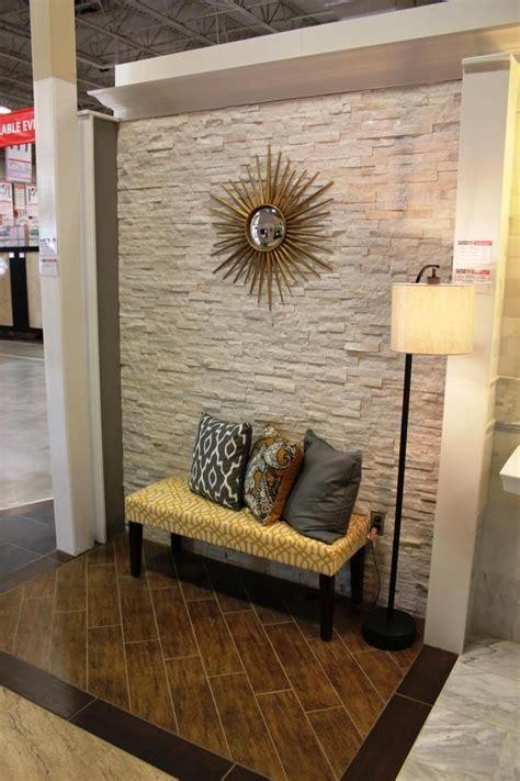 stacked stone accent wall   stone accent walls