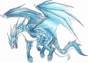 Water/Ice Dragon (Colored) by SnOeysKE on DeviantArt