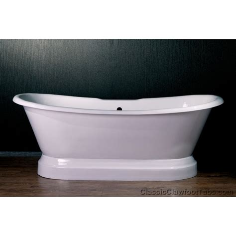 cast iron tub 71 quot cast iron ended slipper pedestal tub