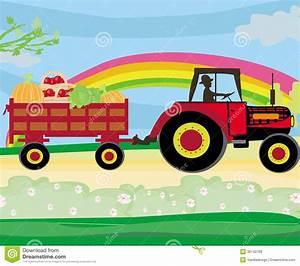 Conduire Une Remorque : quipez conduire un tracteur avec une remorque pleine des l gumes images libres de droits ~ Medecine-chirurgie-esthetiques.com Avis de Voitures