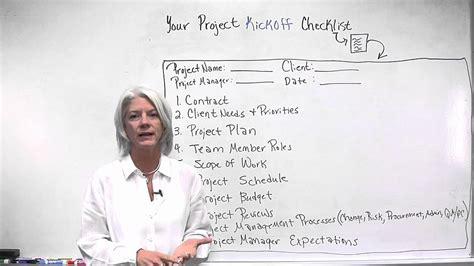 checklist  project kickoff projectmanagercom