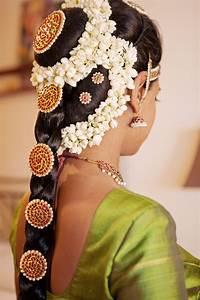 South Indian Bridal Wedding Hair Braid Adorned With Hair