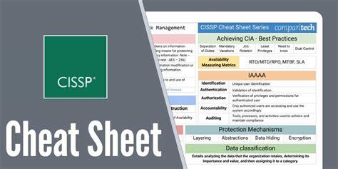 cissp certification cheat sheet study guides  courses